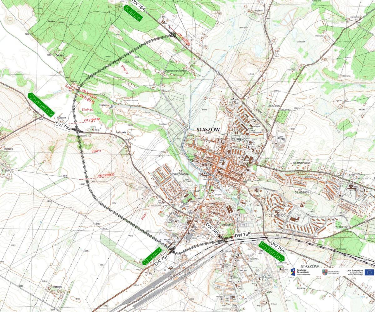 Mapy Projektu Budowa Ukladu Obwodnicowego Miasta Staszow